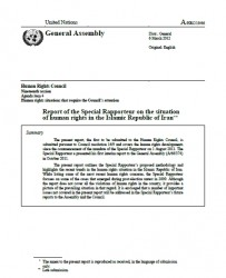 Report of the Special Rapporteur on the situation of human rights in the Islamic Republic of Iran, 6 March 2012