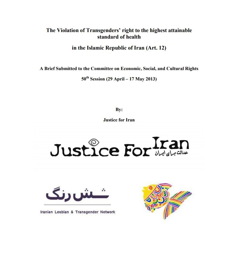 The Violation of Trans' right to the highest attainable standard of health in the Islamic Republic of Iran