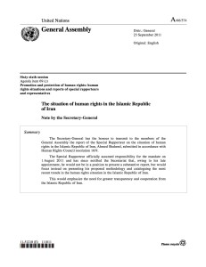 The Situation of Human Rights in the Islamic Republice of Iran- 23 September 2011