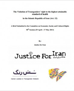 The Violation of Transgenders' right to the highest attainable standard of health in the Islamic Republic of Iran