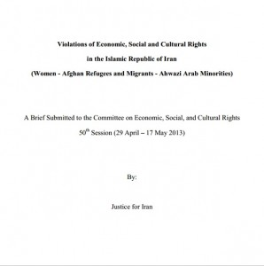 Violations of Economic, Social and Cultural Rights  in the Islamic Republic of Iran