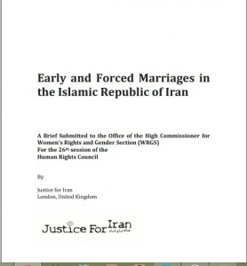 Early and forced marriages in the Islamic Republic of Iran