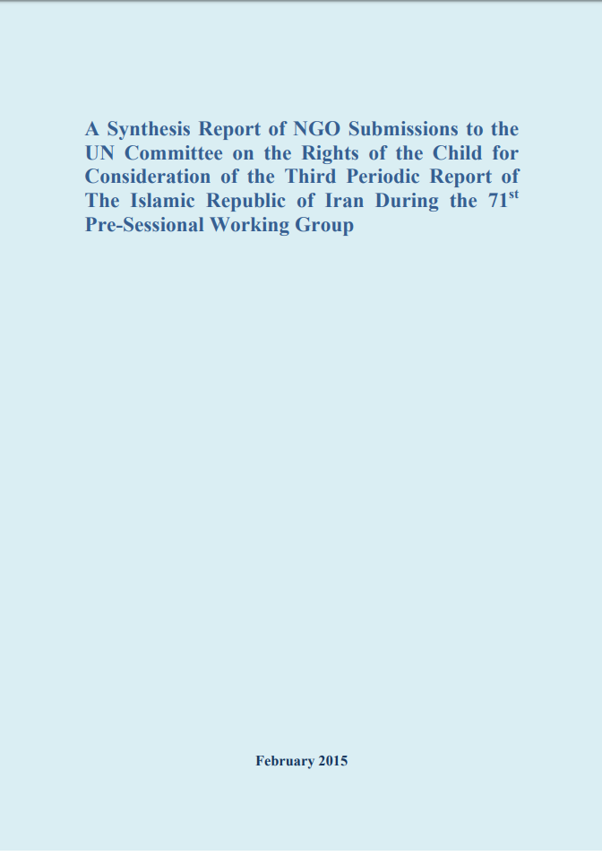 A synthesis report of NGO submissions to the UN Committee on the Rights of the Child