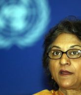 The late UN Special Rapporteur for Human Rights in Iran Asma Jahangir