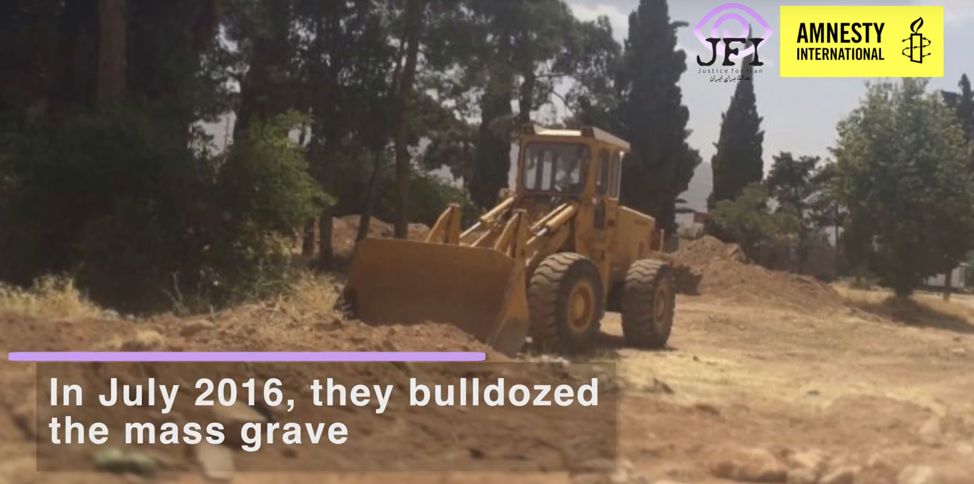 Destruction and concealment of mass graves in Qorveh